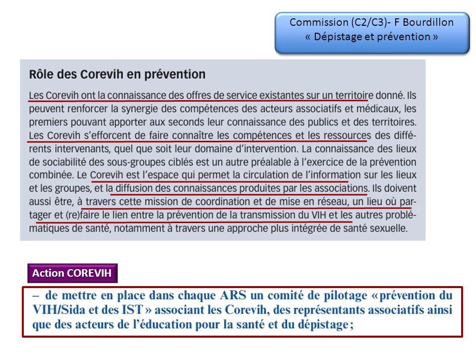 Commission (C2/C3)- F Bourdillon « Dépistage et prévention »
