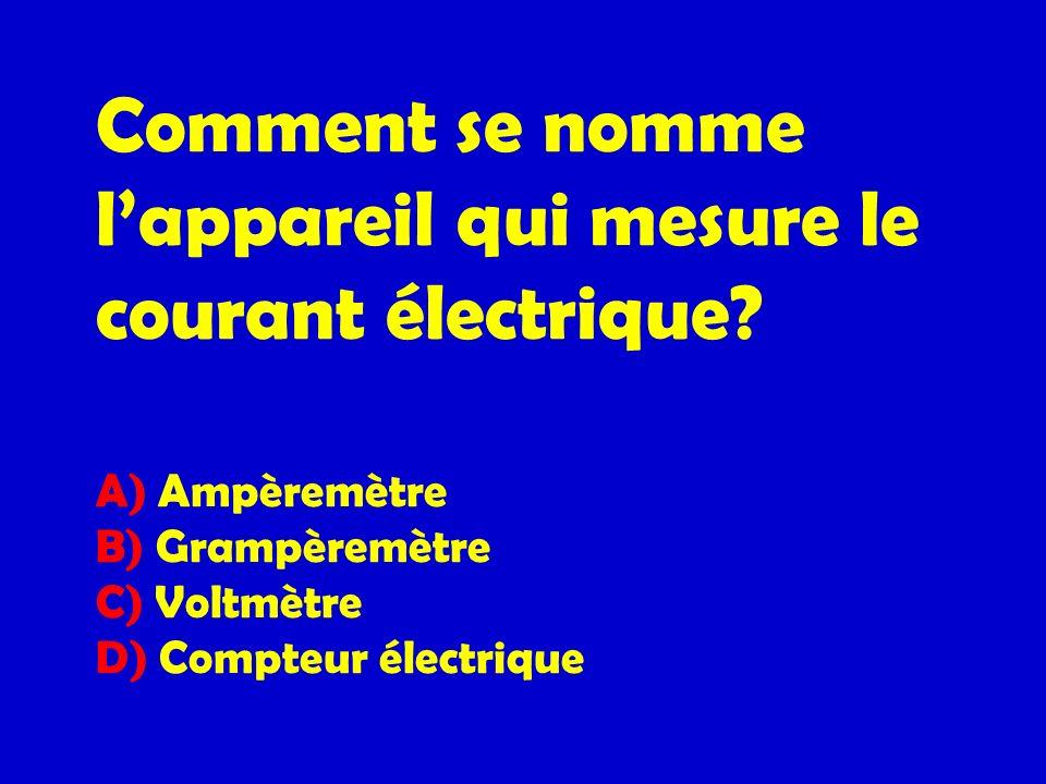 Comment se nomme l'appareil qui mesure le courant électrique
