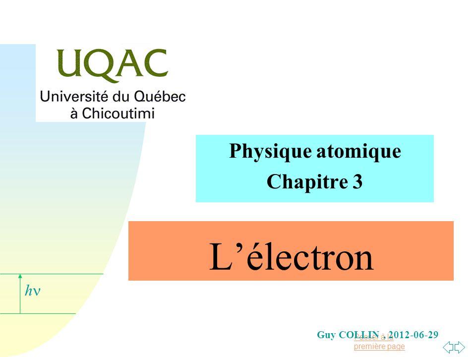 Physique atomique Chapitre 3
