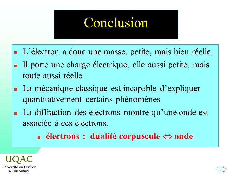électrons : dualité corpuscule  onde