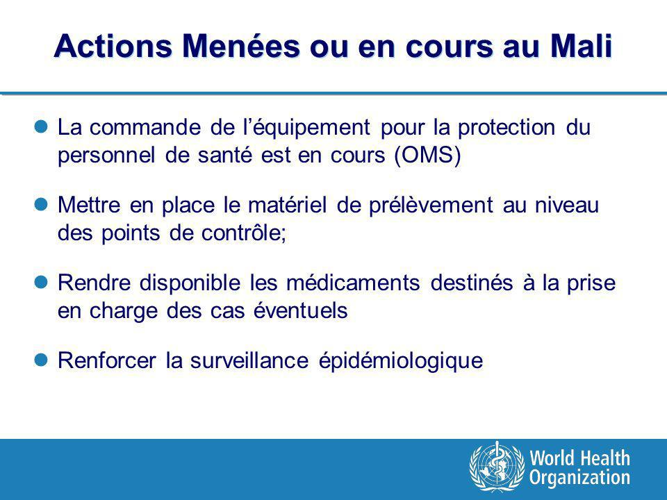 Actions Menées ou en cours au Mali