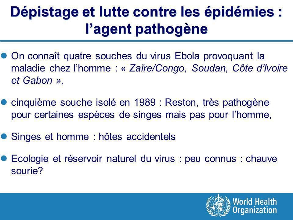 Dépistage et lutte contre les épidémies : l'agent pathogène
