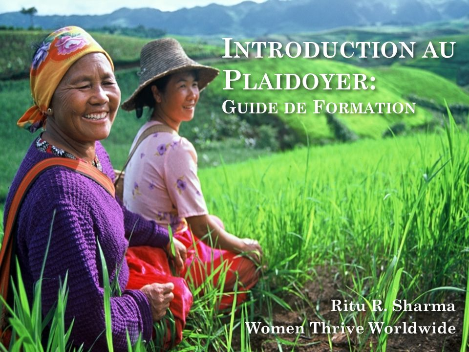 Introduction au Plaidoyer: Guide de Formation