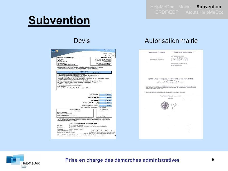 Prise en charge des démarches administratives