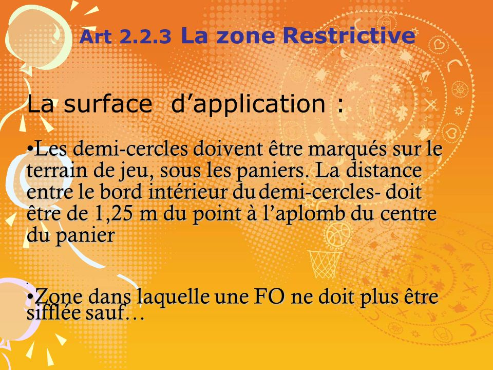 Art 2.2.3 La zone Restrictive