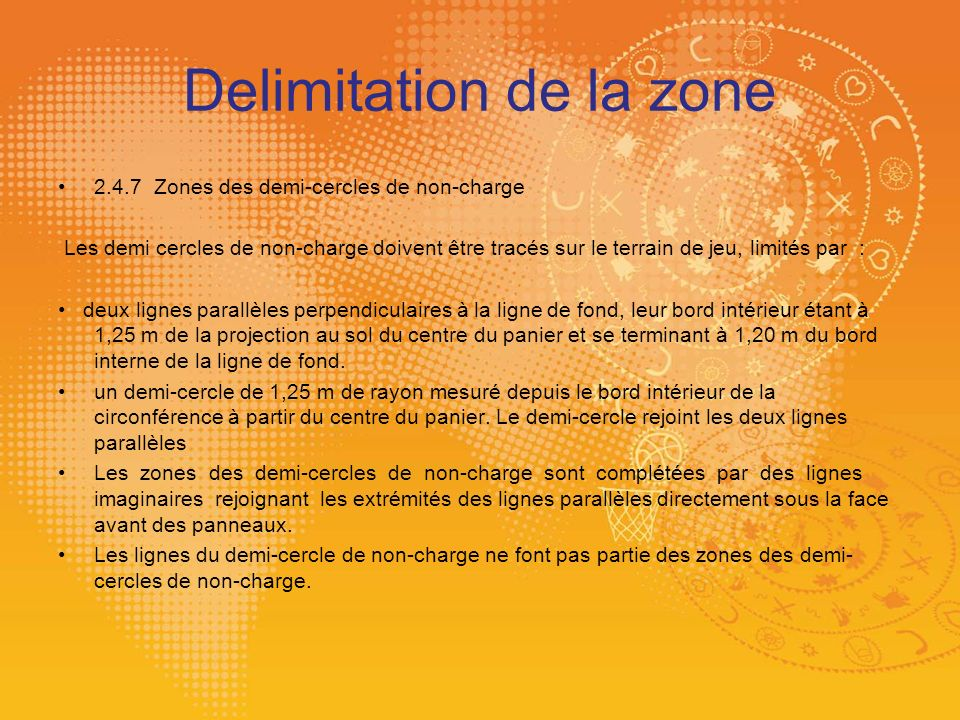 Delimitation de la zone