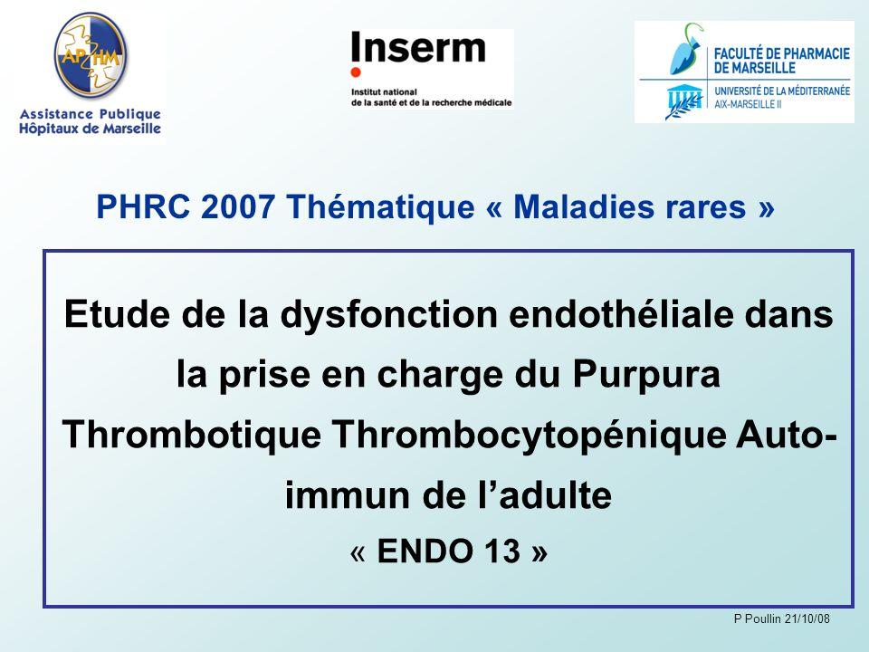 PHRC 2007 Thématique « Maladies rares »