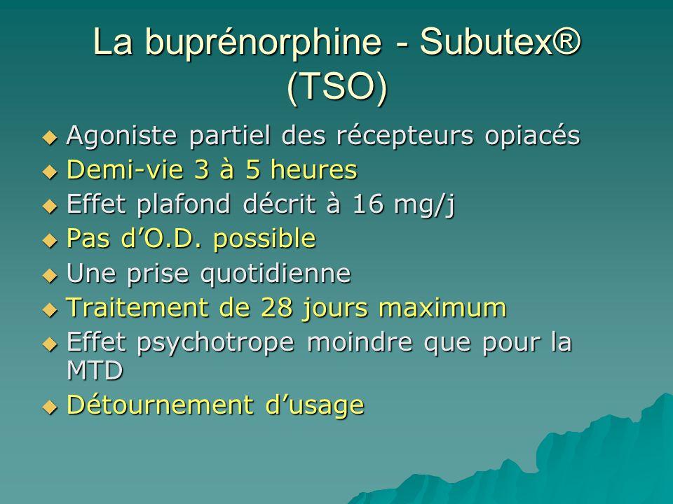 La buprénorphine - Subutex® (TSO)
