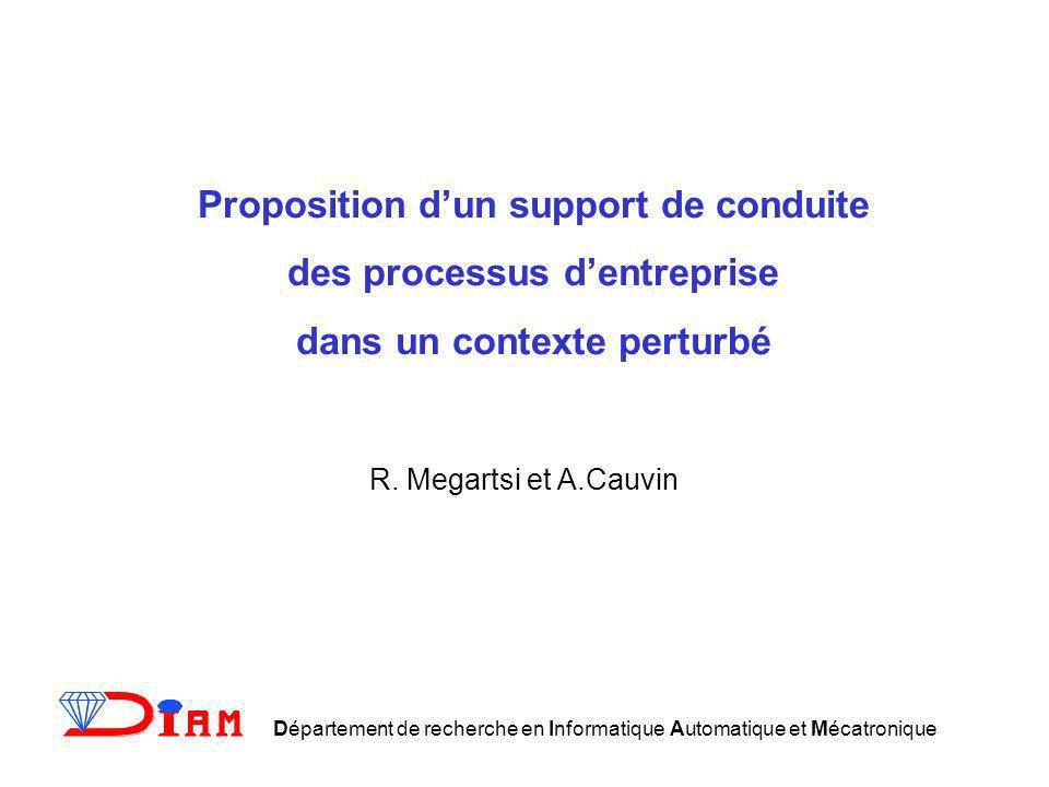 Proposition d'un support de conduite des processus d'entreprise