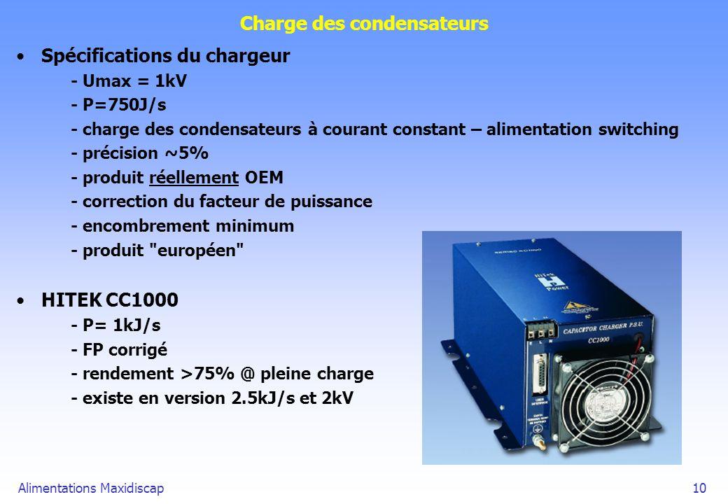 Charge des condensateurs