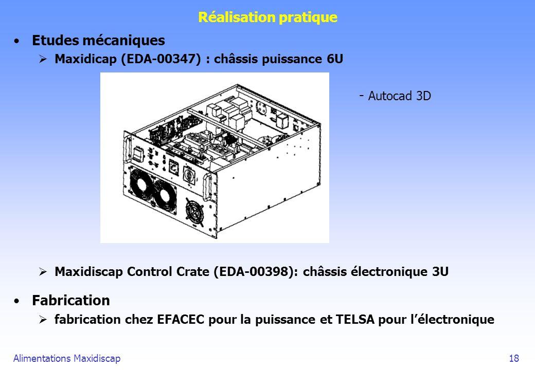Réalisation pratique Etudes mécaniques - Autocad 3D Fabrication