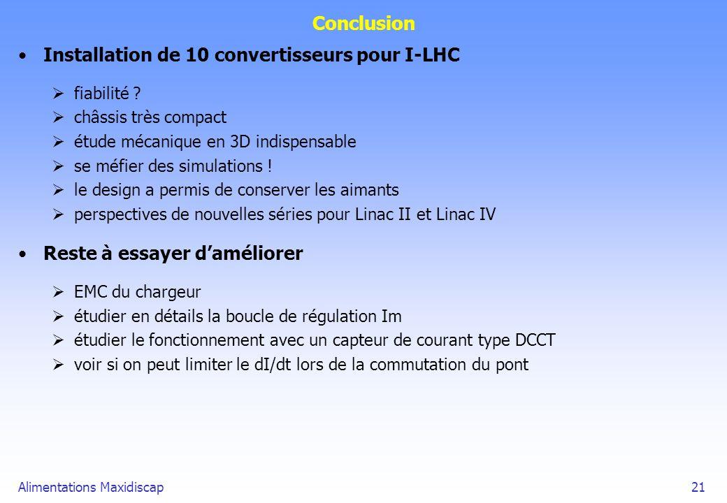 Installation de 10 convertisseurs pour I-LHC