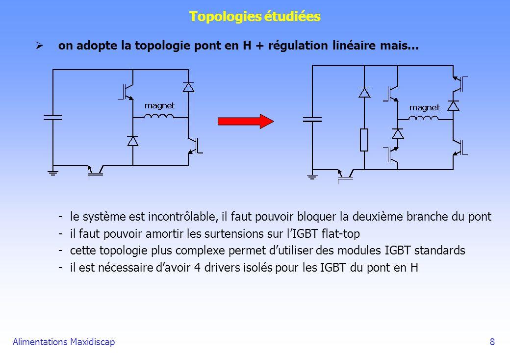Topologies étudiées on adopte la topologie pont en H + régulation linéaire mais...