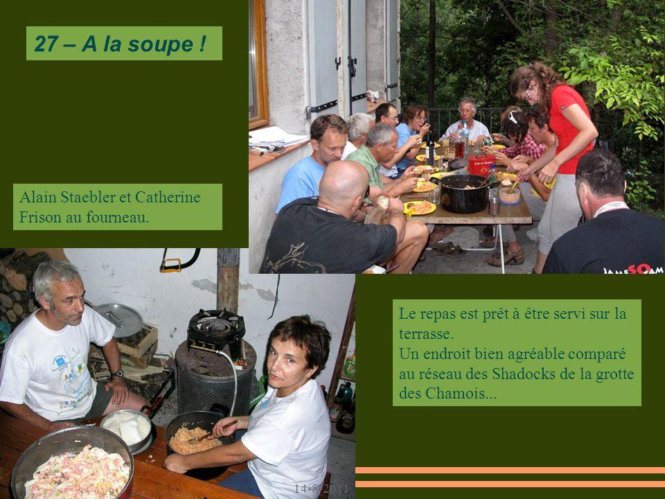 27 – A la soupe ! Alain Staebler et Catherine Frison au fourneau.