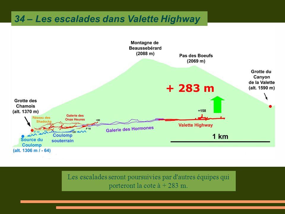 + 283 m 34 – Les escalades dans Valette Highway
