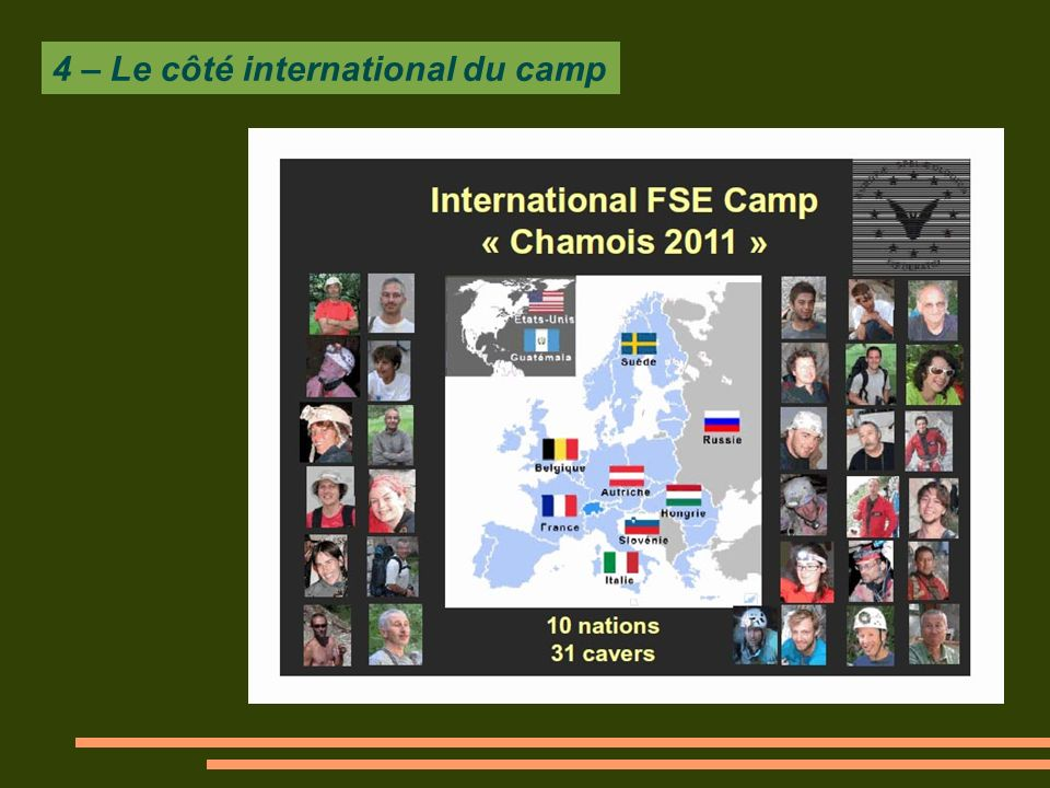 4 – Le côté international du camp