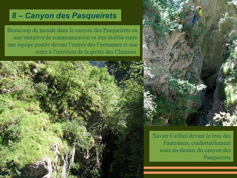 8 – Canyon des Pasqueirets