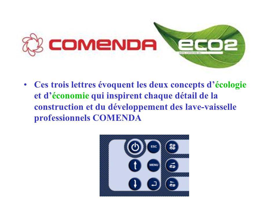 Ces trois lettres évoquent les deux concepts d'écologie et d'économie qui inspirent chaque détail de la construction et du développement des lave-vaisselle professionnels COMENDA