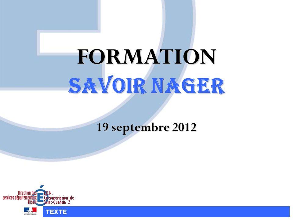 FORMATION SAVOIR NAGER 19 septembre 2012