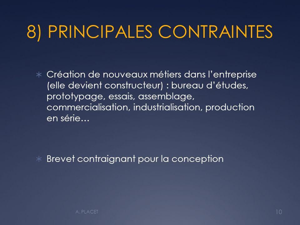 8) PRINCIPALES CONTRAINTES