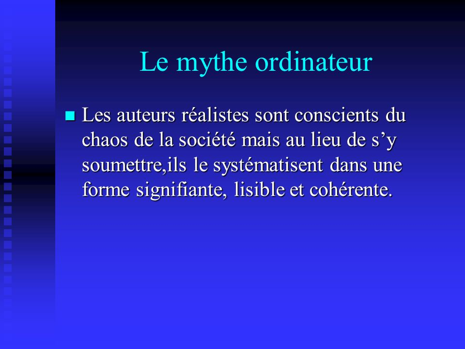 Le mythe ordinateur