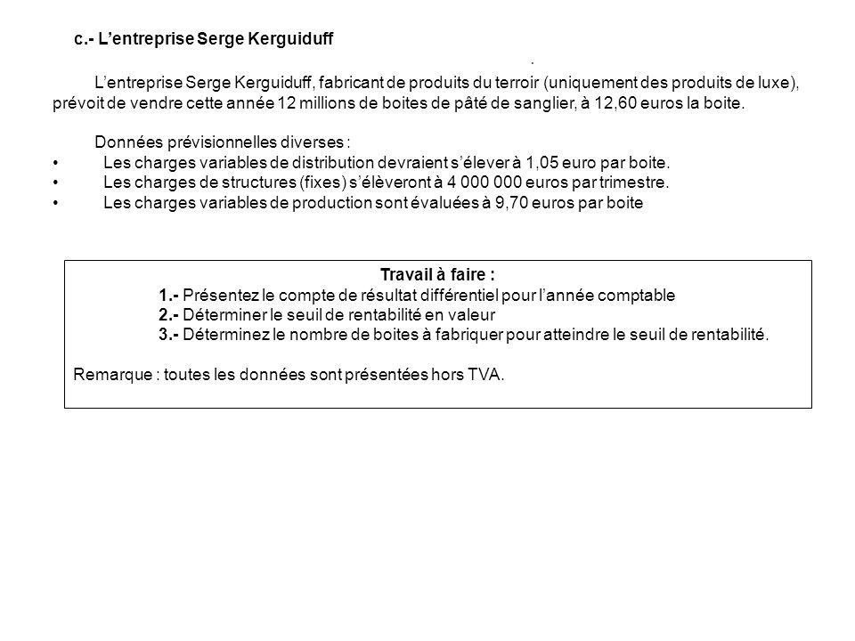 c.- L'entreprise Serge Kerguiduff