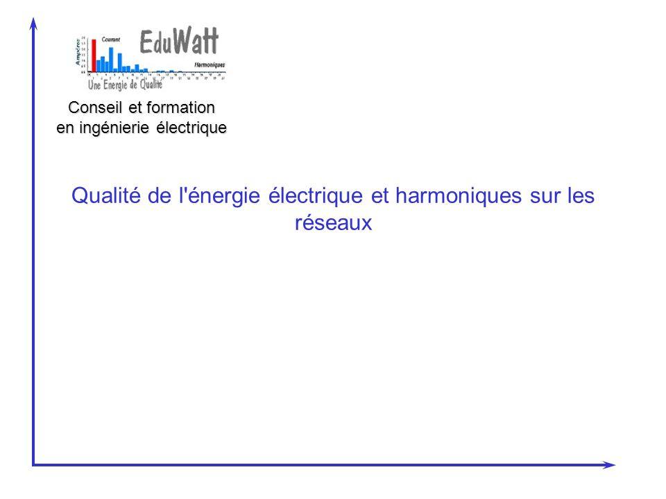 Qualité de l énergie électrique et harmoniques sur les réseaux