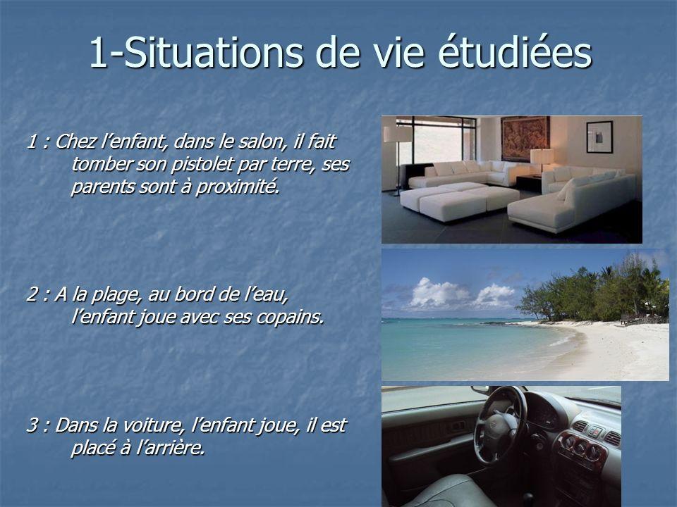 1-Situations de vie étudiées