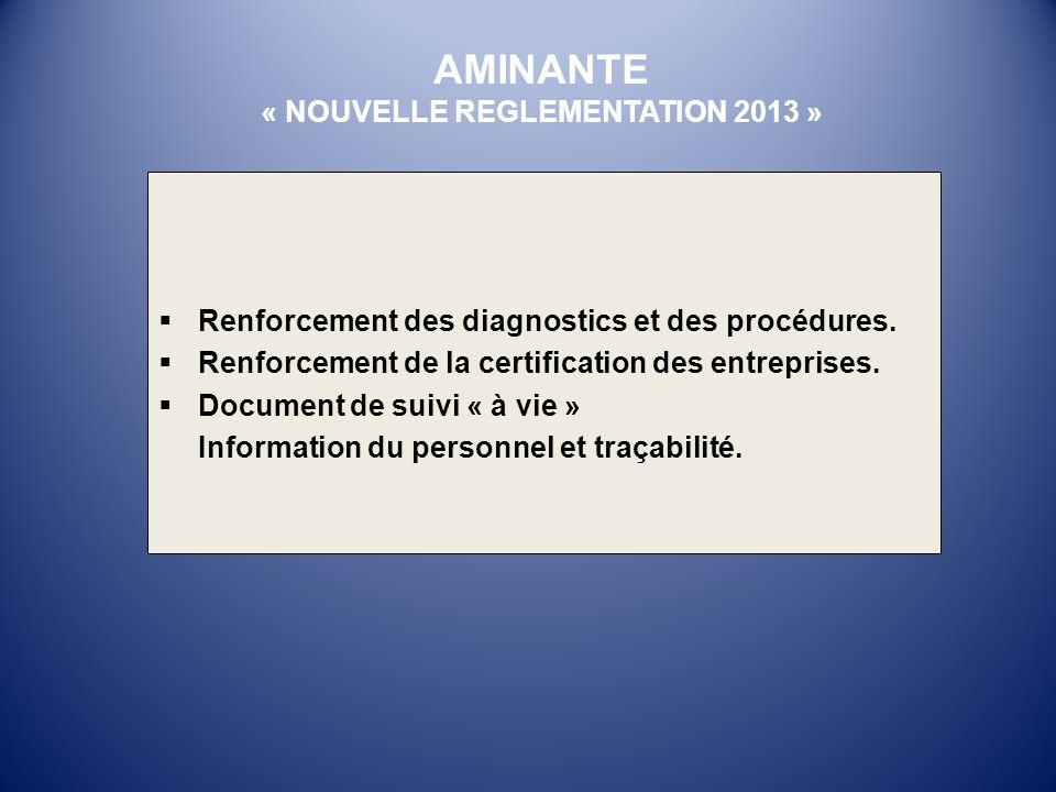 « NOUVELLE REGLEMENTATION 2013 »