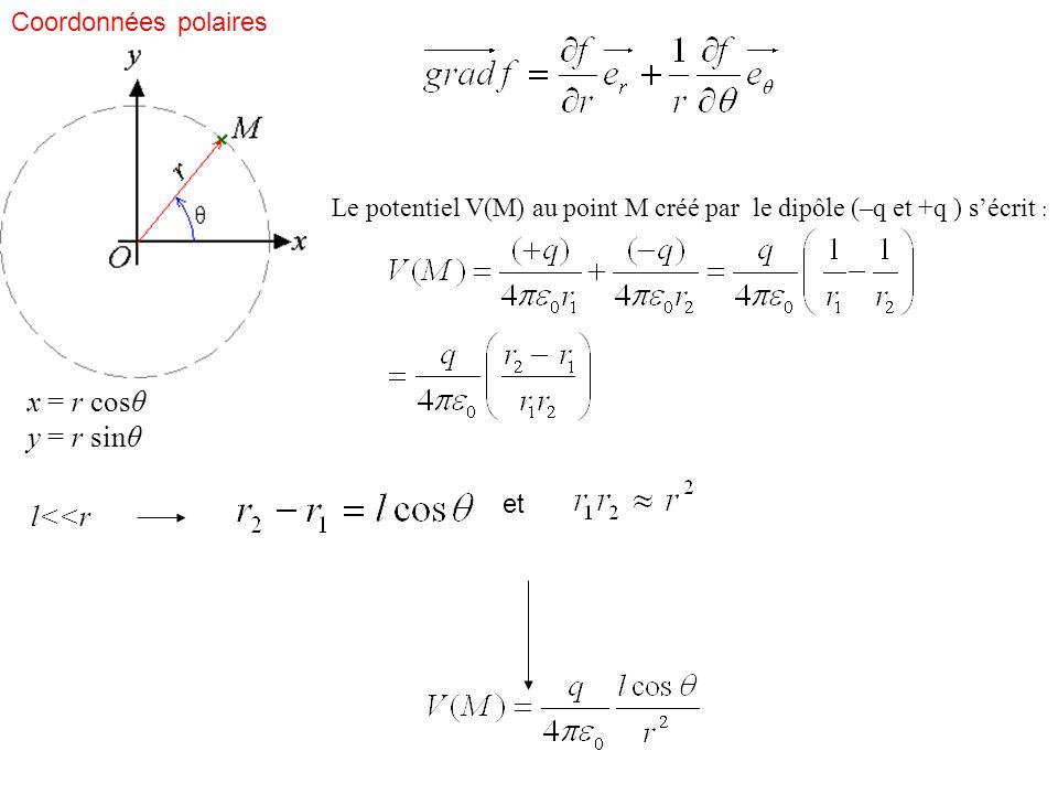 x = r cosθ y = r sinθ l<<r Coordonnées polaires