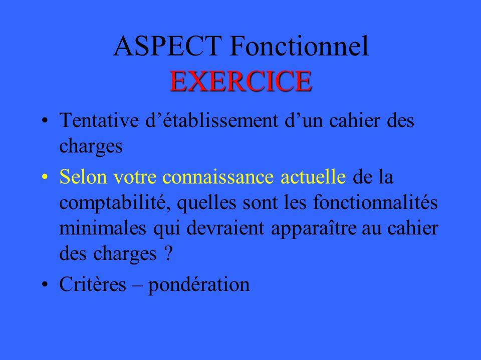ASPECT Fonctionnel EXERCICE