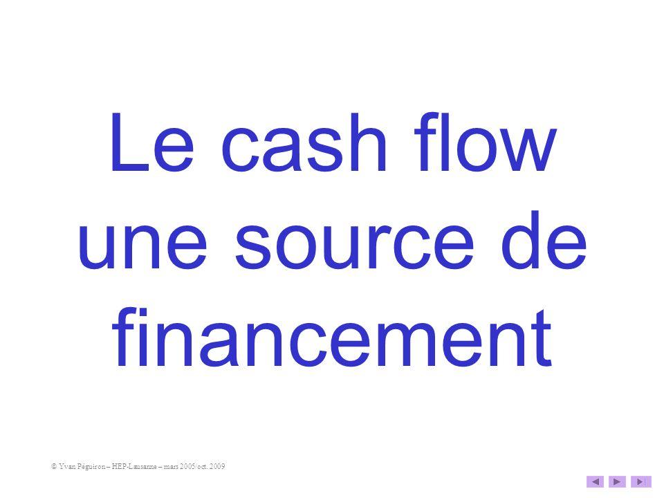 Le cash flow une source de financement