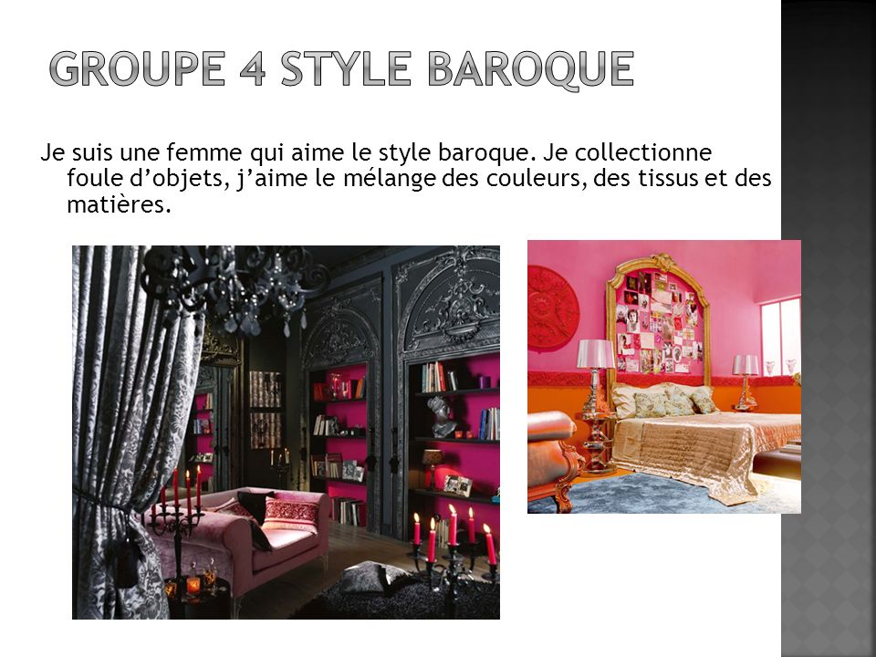 Groupe 4 style baroque