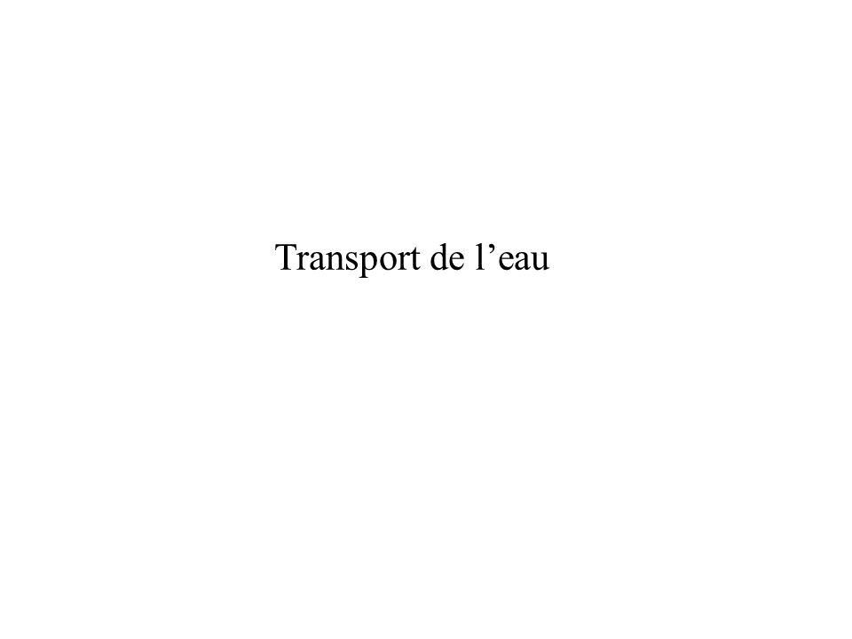 Transport de l'eau