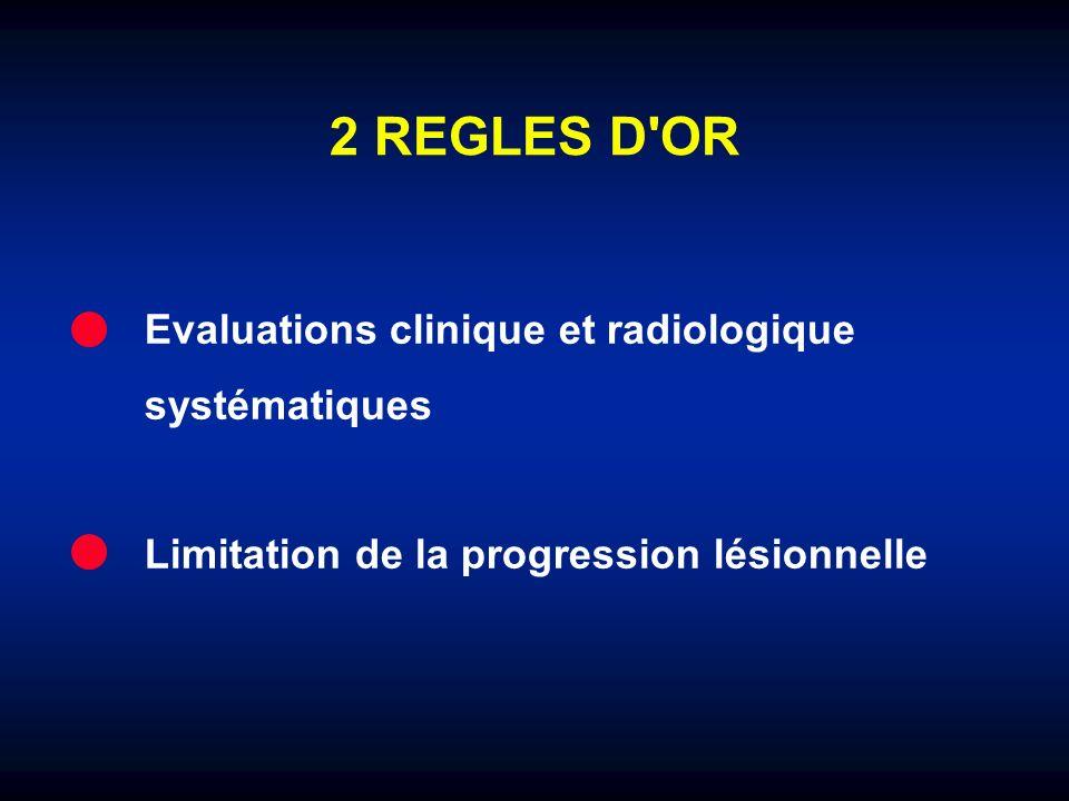 2 REGLES D OR Evaluations clinique et radiologique systématiques