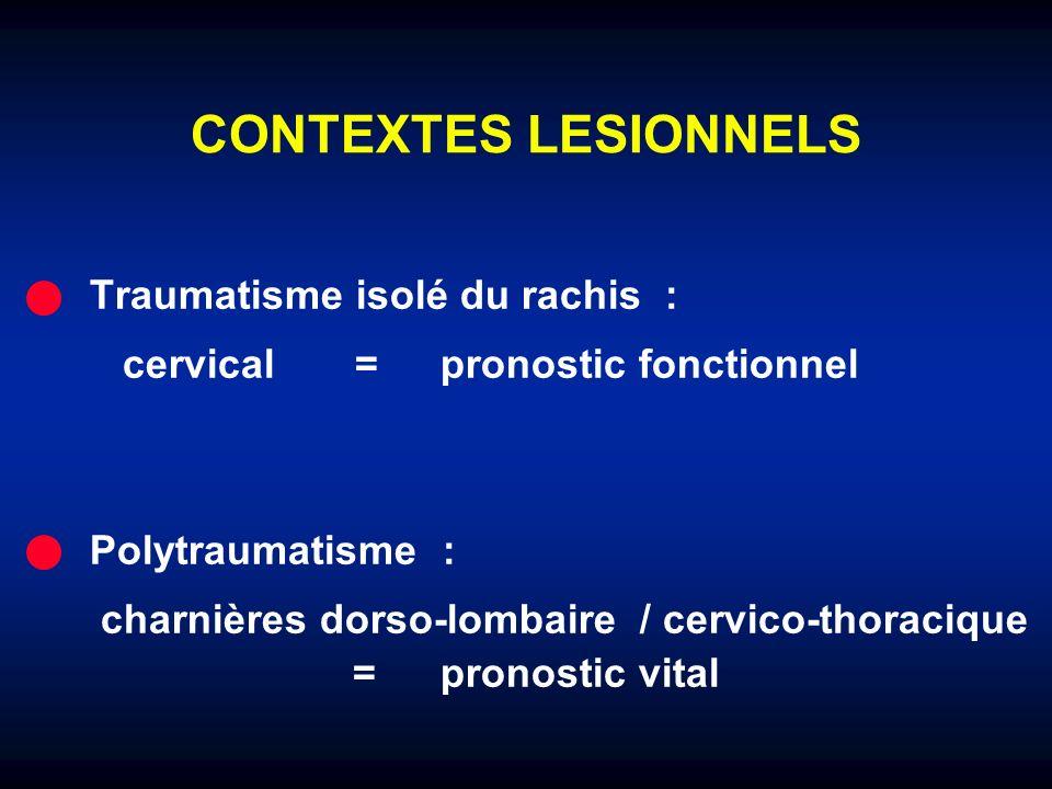 CONTEXTES LESIONNELS Traumatisme isolé du rachis :