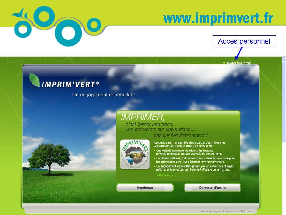 www.imprimvert.fr Accès personnel