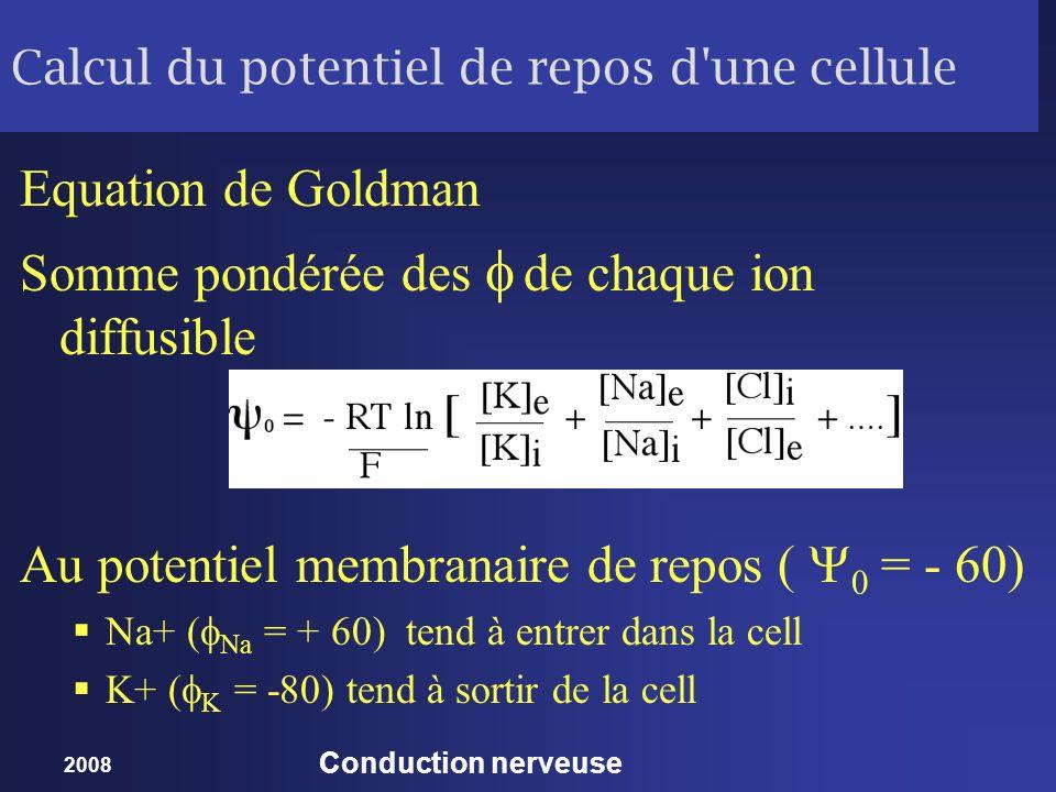 Calcul du potentiel de repos d une cellule