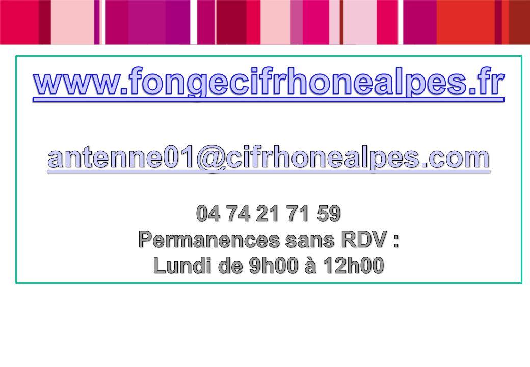 www.fongecifrhonealpes.fr antenne01@cifrhonealpes.com 04 74 21 71 59
