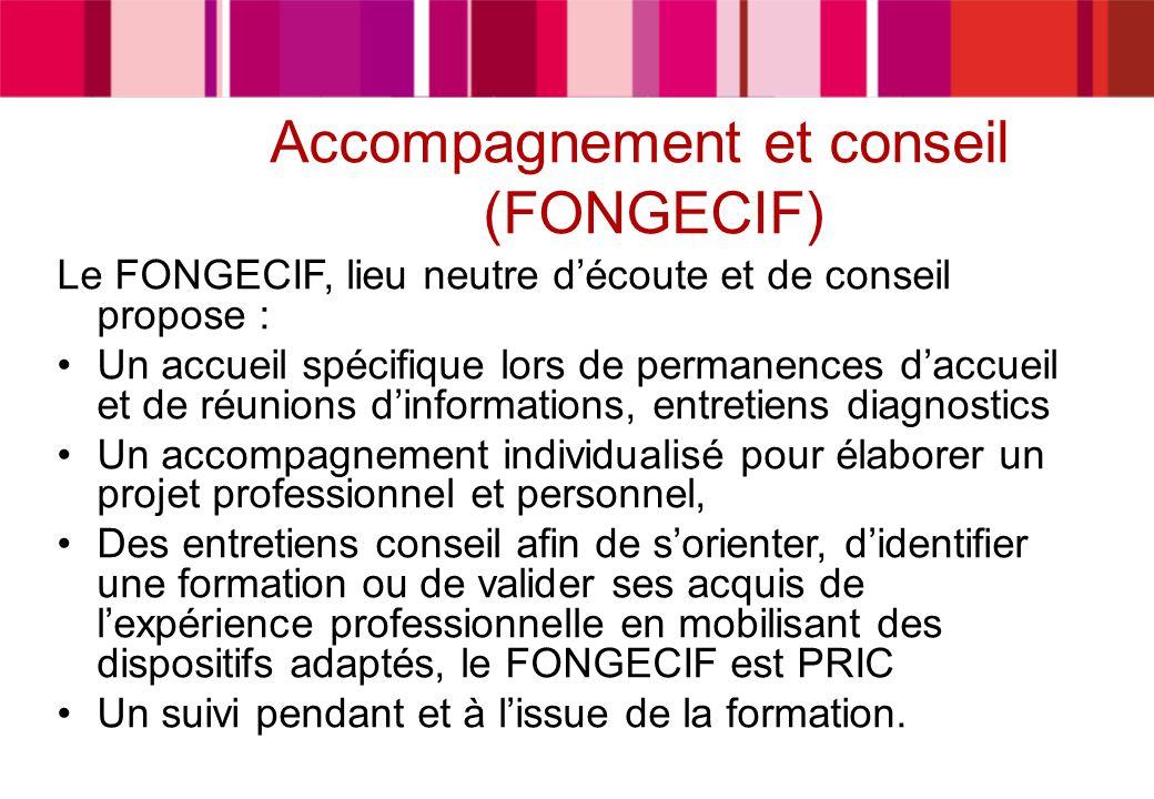 Accompagnement et conseil (FONGECIF)