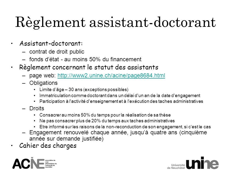 Règlement assistant-doctorant