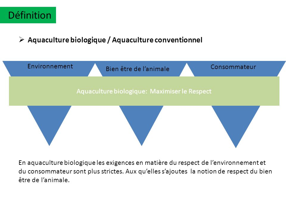 Aquaculture biologique: Maximiser le Respect