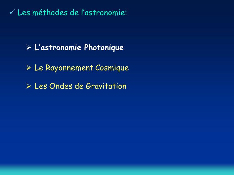 Les méthodes de l'astronomie: