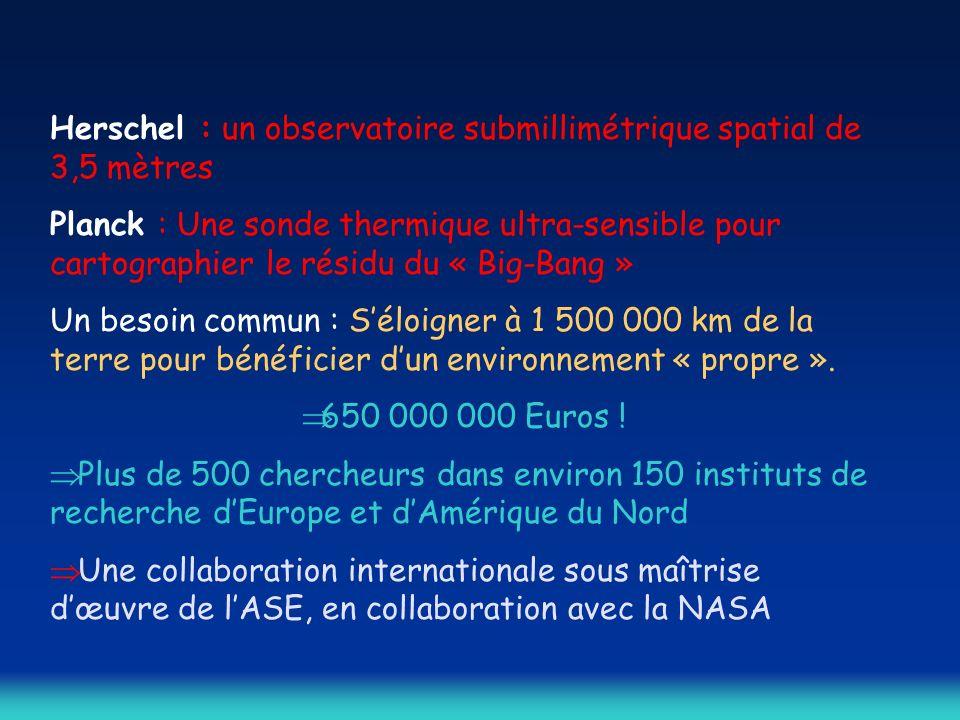 Herschel : un observatoire submillimétrique spatial de 3,5 mètres