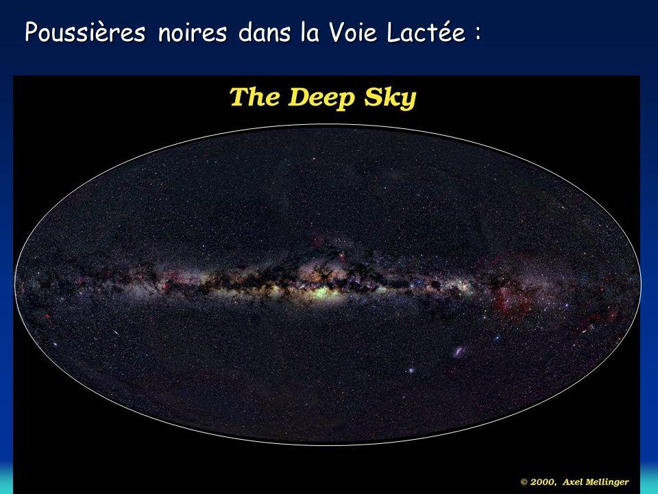 Poussières noires dans la Voie Lactée :