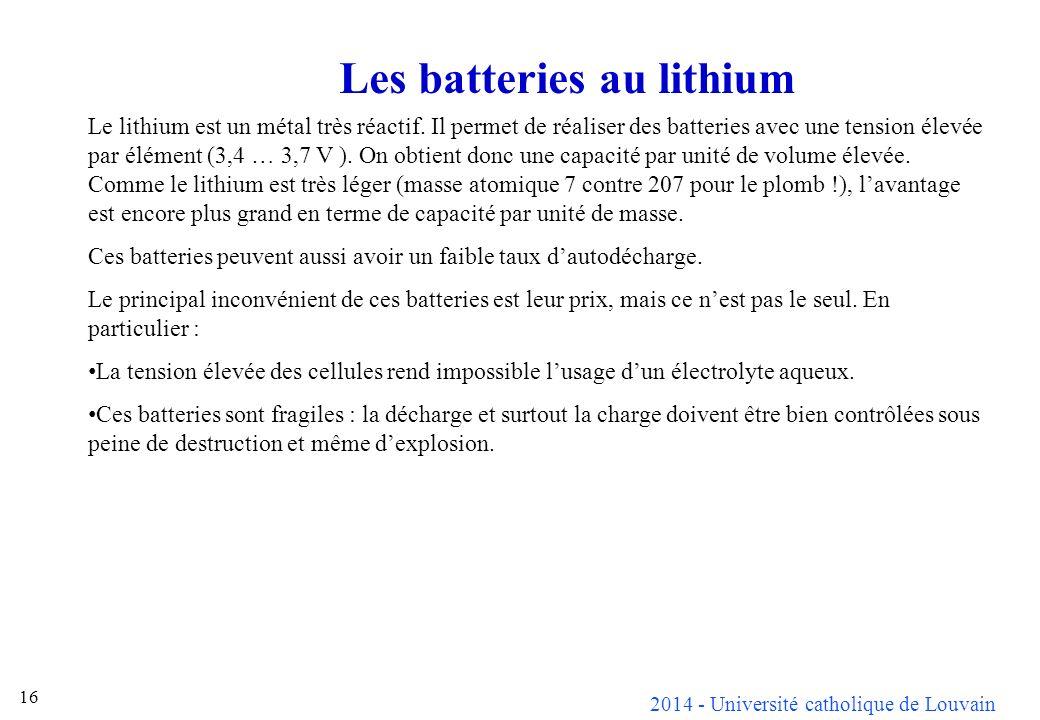 Les batteries au lithium