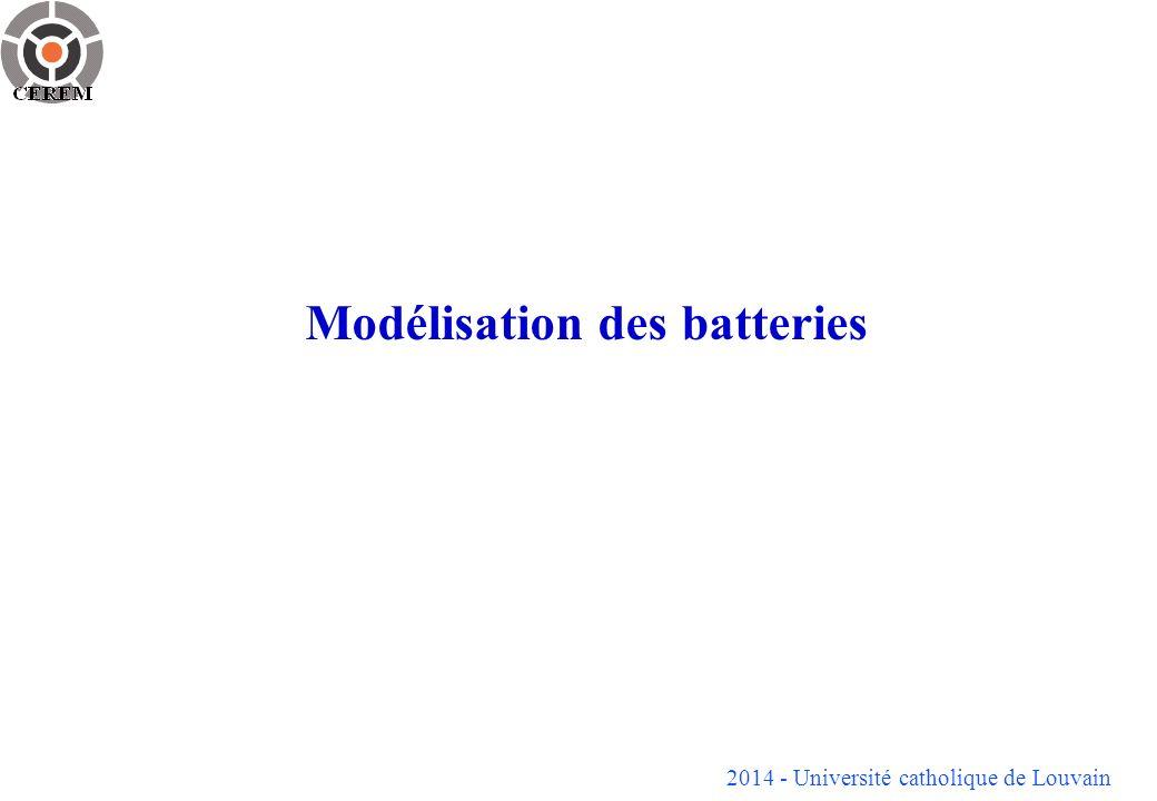 Modélisation des batteries