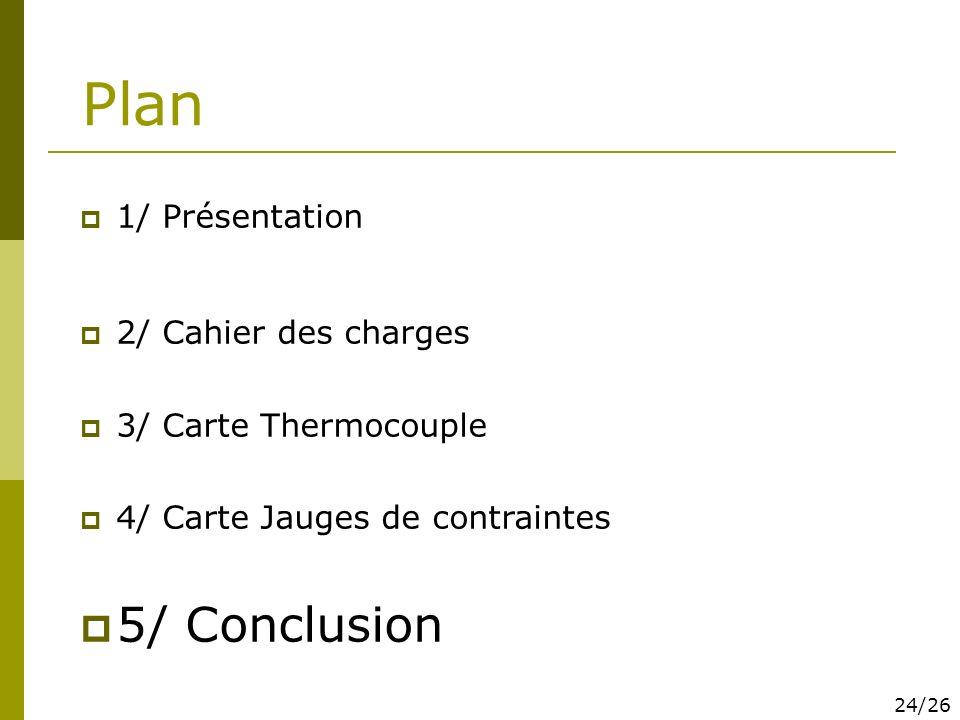 Plan 5/ Conclusion 1/ Présentation 2/ Cahier des charges