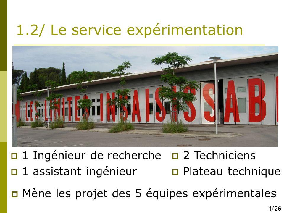 1.2/ Le service expérimentation