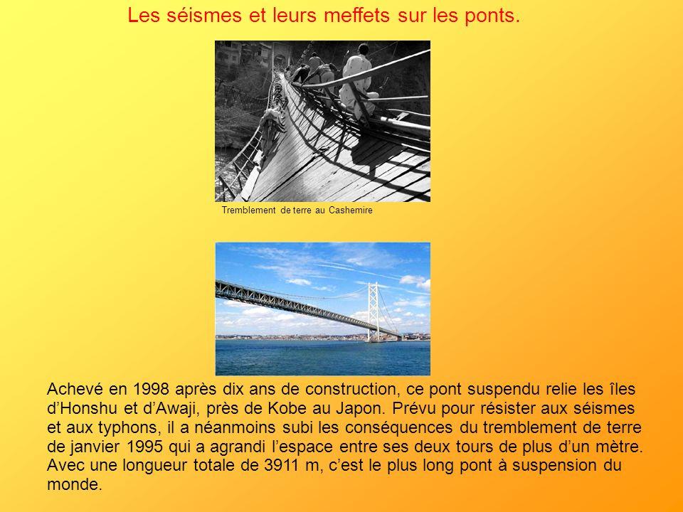 Les séismes et leurs meffets sur les ponts.